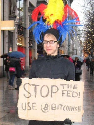 32 BTC for holding sign on street