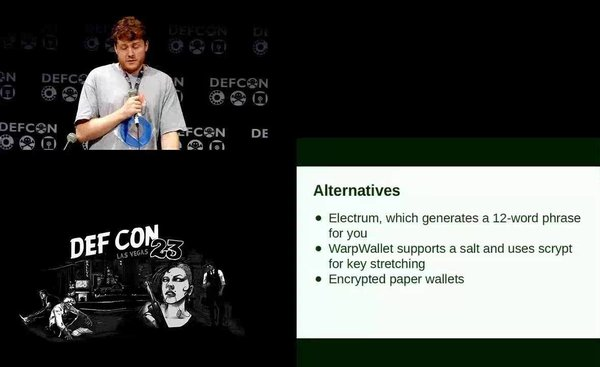 DEF CON 23 - Cracking Cryptocurrency Brainwallets