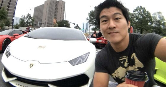 Peter Saddington with Lamborghini